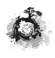 background with a clock vector image
