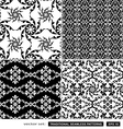Vintage black and white backgrounds vector image vector image