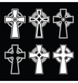 Irish Scottish celtic cross on black sign vector image
