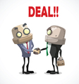 businessman deal vector image