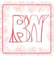 BW monogram vector image vector image
