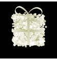 Elegant gift box with ribbon  EPS8 vector image vector image