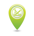 NO smoking GREEN map pointer vector image