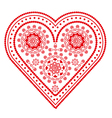 fancy valentine heart vector image