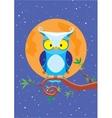 owl night vector image vector image