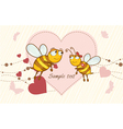 bees in love vector image vector image