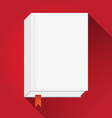 BookWithBookmarkFlat vector image