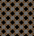 Dark seamless geometric pattern in Celtic style vector image
