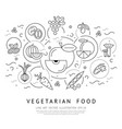 digital black vegetable icons set vector image