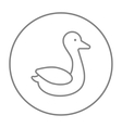 Duck line icon vector image