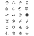 Ecology Line Icons 2 vector image