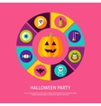 Halloween Party Infographic Concept vector image