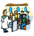 mass or service in a church vector image