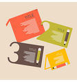 Retro Paper Infographics Layout with Pencils vector image