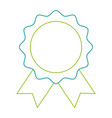 seal with ribbon emblem vector image