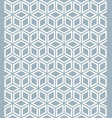 seamless white cubes isometric background pattern vector image