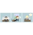 three businessmen in office vector image