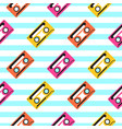 vintage pop art music tape striped seamless vector image