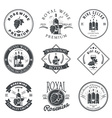 Wine club and restaurant emblems and labels set vector image
