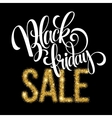 Golden Black Friday sale lettering background vector image