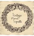 vintage floral vignette vector image