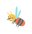 cute cartoon honey bee colorful character vector image vector image