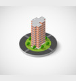 icon of the city with isometric vector image
