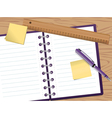 Notepad vector image vector image