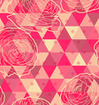 Flower geometrical seamless pattern vector image
