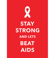 aids poster vector image
