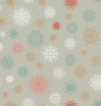 Christmas seamless pattern from red andblue vector image