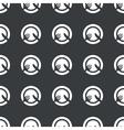 Straight black dishware pattern vector image