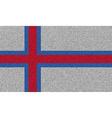 Flags Faroe Islands on denim texture vector image