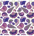 Hand draw sea shells pattern Seamless texture vector image