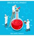 Drug Development People Isometric vector image