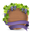 barrel grape purple ribbon vector image
