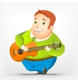 Cheerful Chubby Man vector image