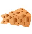 cheesy slice1 vector image