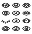 eyes icon set vector image