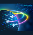fiber optic technology world vector image