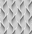 Flat gray with wavy textured leaves vector image