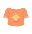 Graphic girls T-shirt design icon with sun vector image