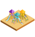 Isometric Playground Composition vector image