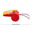 Orange and Yellow Colors on Bhutan Whistle vector image