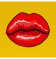 Pretty Female Lips in Retro Pop Art Style vector image
