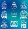 Set of Summer Holidays Badges Hipster Vintage vector image