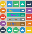 Shoe icon sign Set of twenty colored flat round vector image