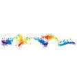 splash colorful wave vector image