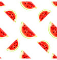 watermelon slices seamless pattern vector image