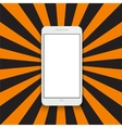 modern smartphone on colorful striped vector image